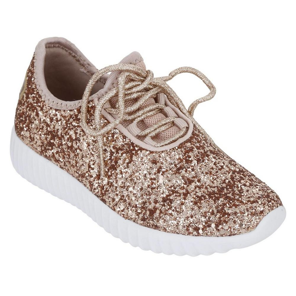 ee44c088d810 Girls' Remy Glitter Sneakers - Rose Gold | Burkes Outlet