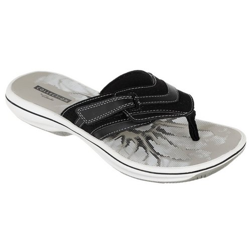 79e588a2723 Brinkley Keely Velcro Thong Sandals - Black