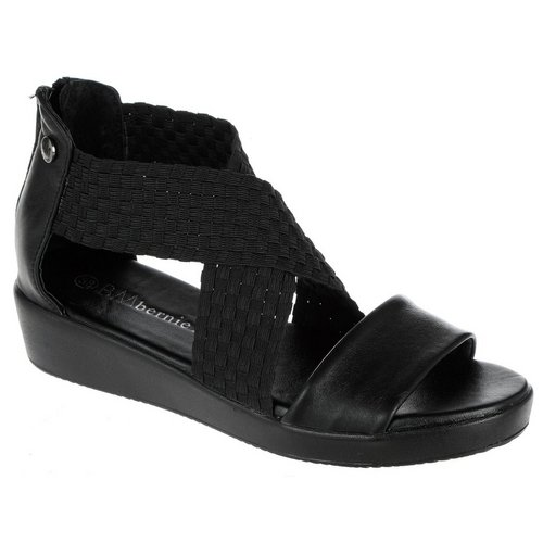 1685a5098251 Laura X-Band Wedge Sandals - Black