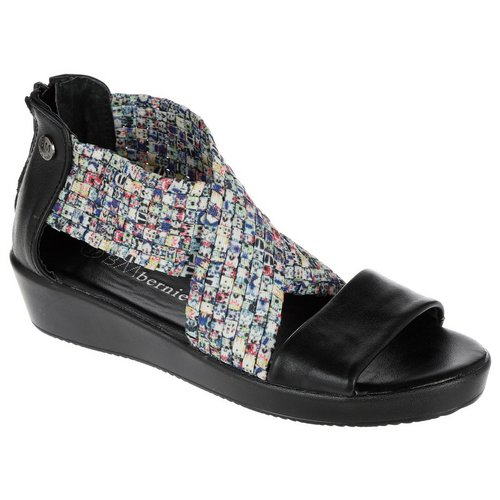 5d63e9328c07 Laura X-Band Wedge Sandal - Black Multi