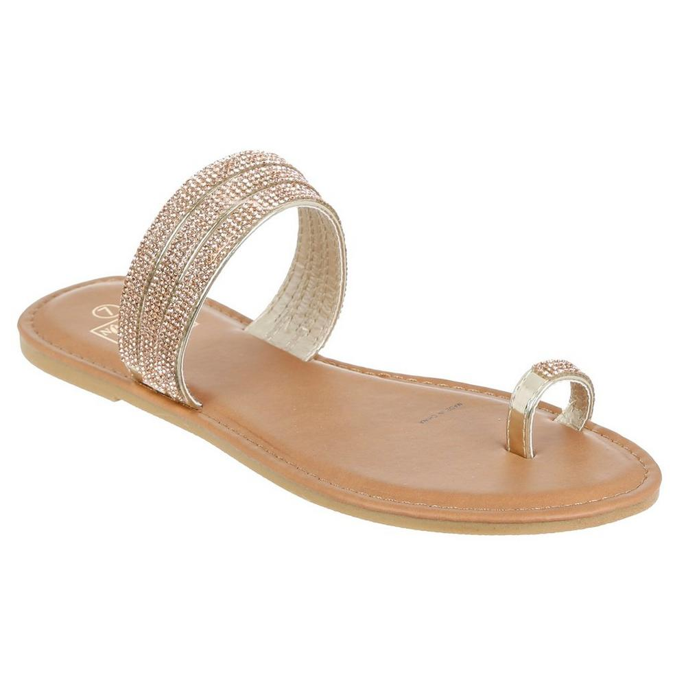 bdf6120905dd Jeweled Band Sandals - Rose Gold