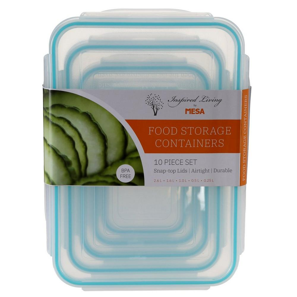 10 Pc Storage Container Set - Green