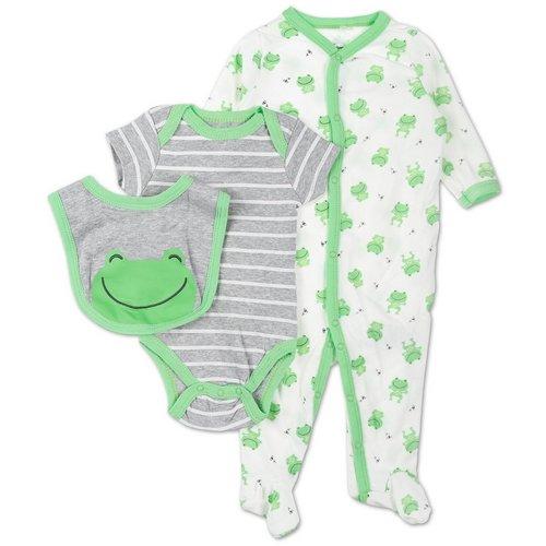 97c514bb2 Boys Little Frog 3 Pc Layette Set - Green (0-12M)