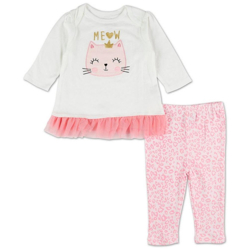 69def4fafb797 Girls Meow 2 Pc Tutu Leggings Set - Pink (0-9 Mos)
