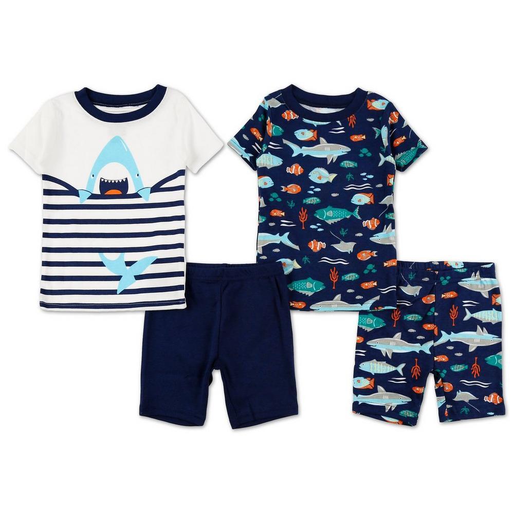 dae48b0af Boys 4 Pc Shark Pajama Set - Blue Multi (12M-24M)