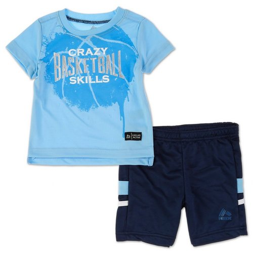 3a4b7dc4f Boys 2 Pc Active Short Set - Blue (12M-24M)