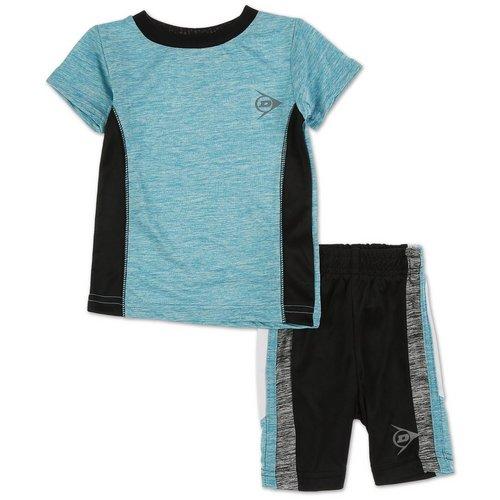 3ada9982e Boys Active 2 Pc Spacedye Shorts Set - Aqua (12-18M)