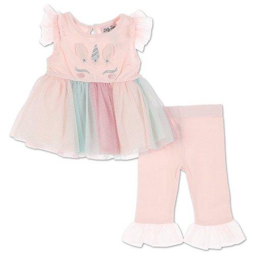 0593d3081c Girls 2 Pc Unicorn Tutu Leggings Set - Pink