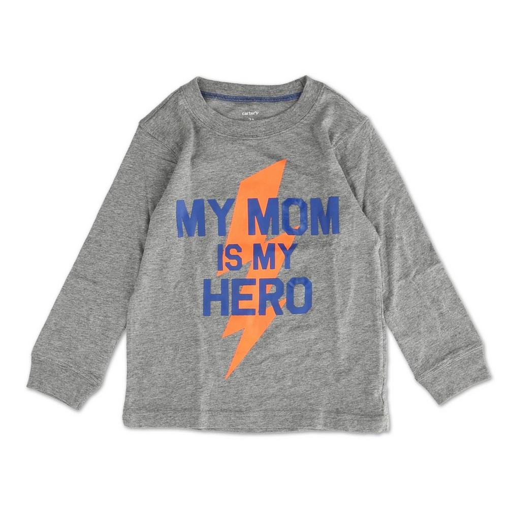 9a041192 Boys Long Sleeve Graphic Tee - Grey (2T-5T) | Burkes Outlet