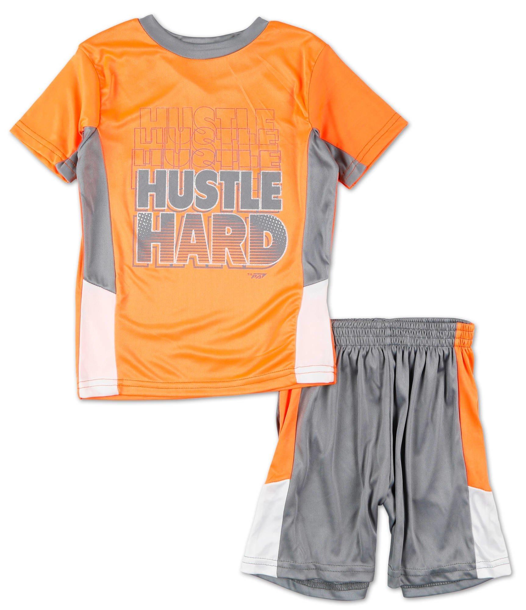 Pro Athlete Boys Hustle 2-Piece Shorts Set Outfit