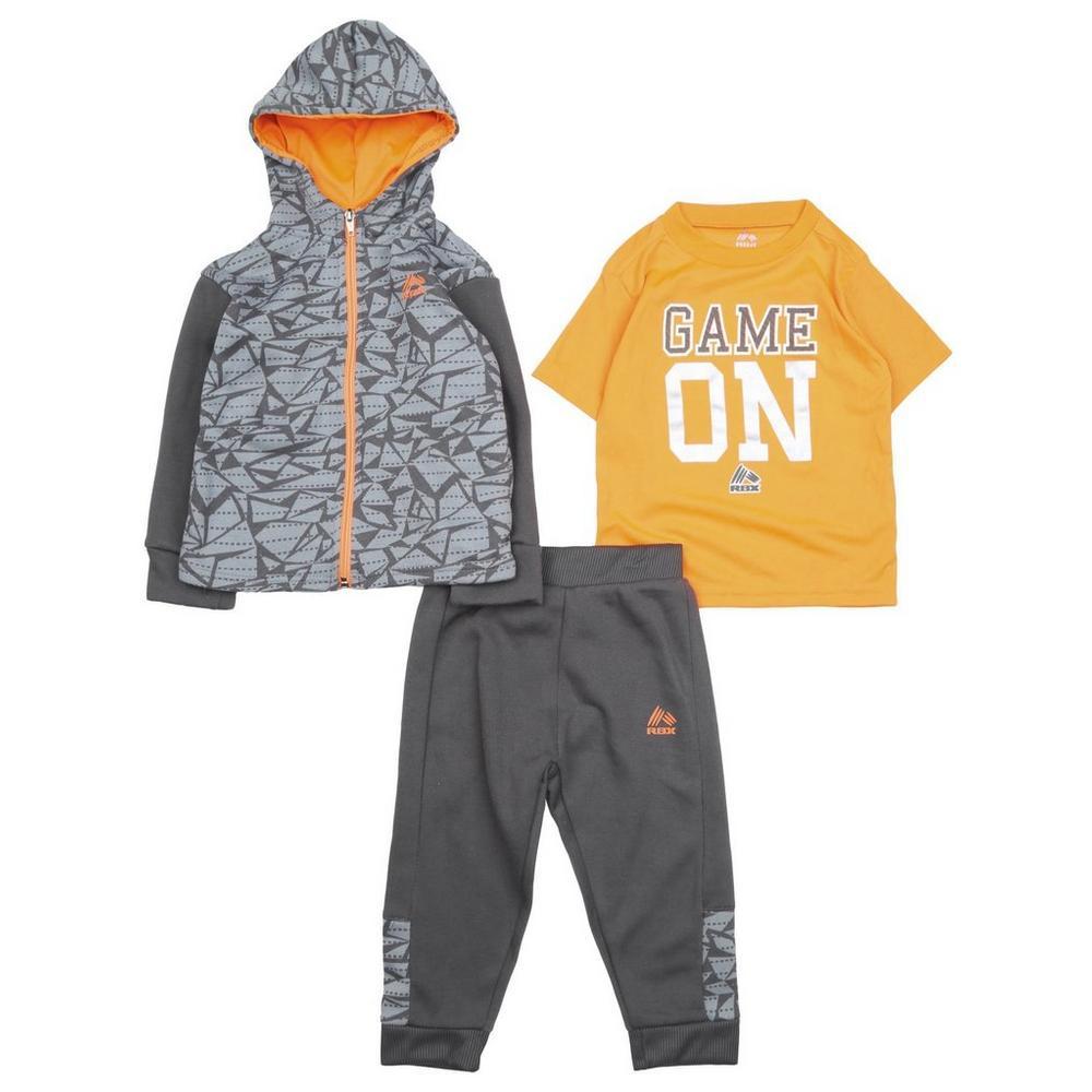 0a99bca6f Toddler Boys' 3 Pc Active Fleece Hoodie, Tee, & Jogger Set | Burkes Outlet