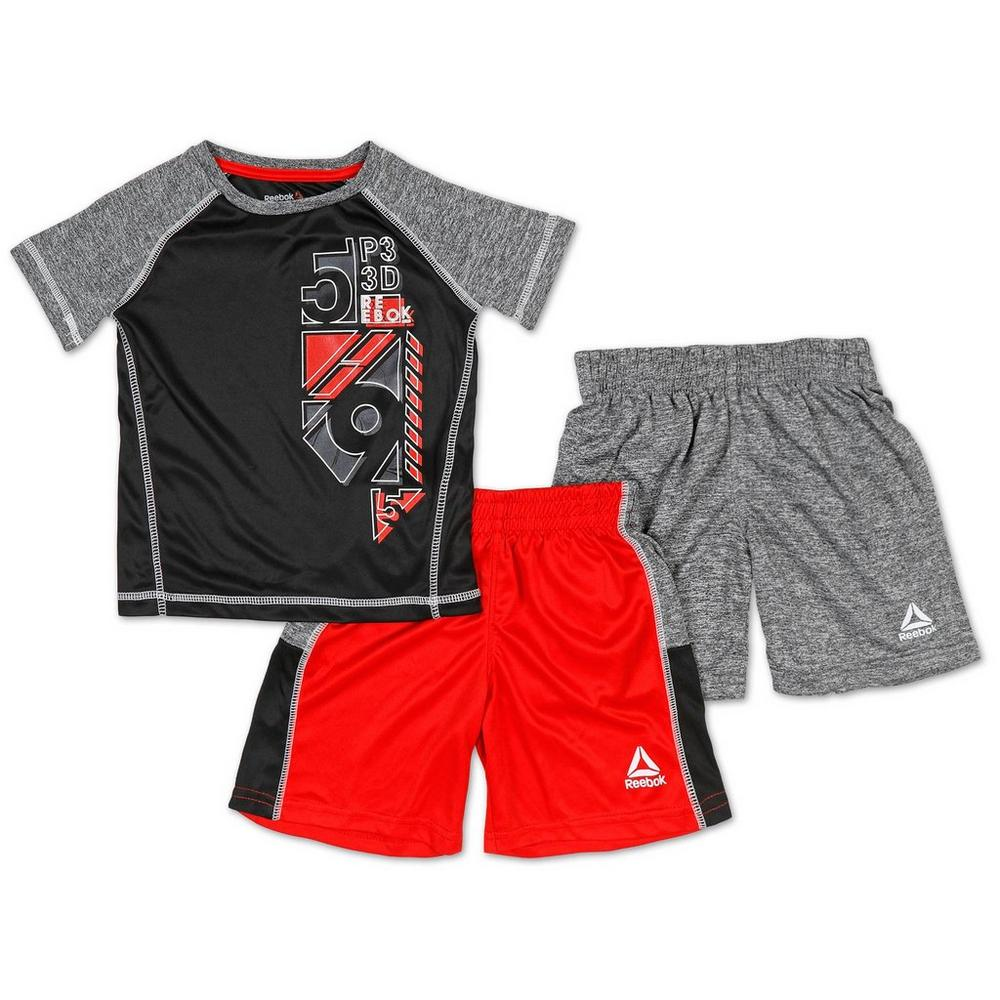 a695557d3c38 Boys Active 3 Pc Graphic Tee   Shorts Set - Multi (2-5T)