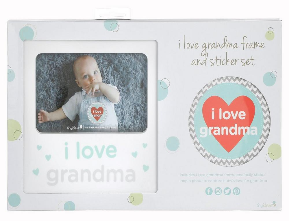 I Love Grandma Photo Frame Sticker Set Burkes Outlet