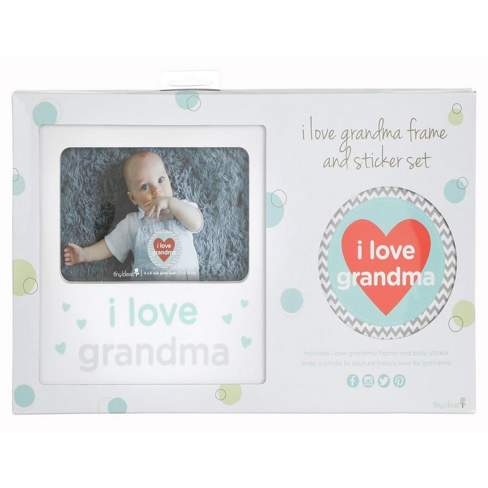 I Love Grandma Photo Frame Sticker Set Burkes Outlet