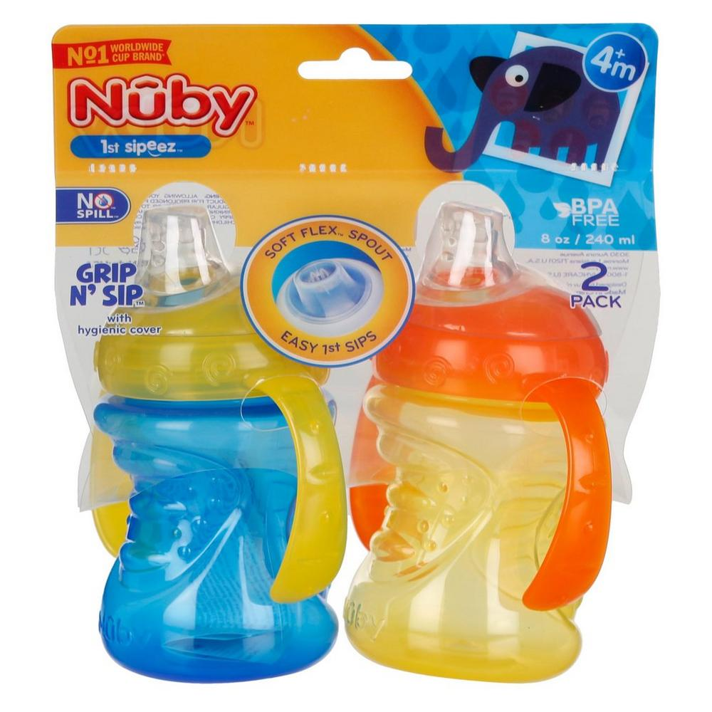 Grip N' Sip 2 Pk Sipeez - Blue/Yellow