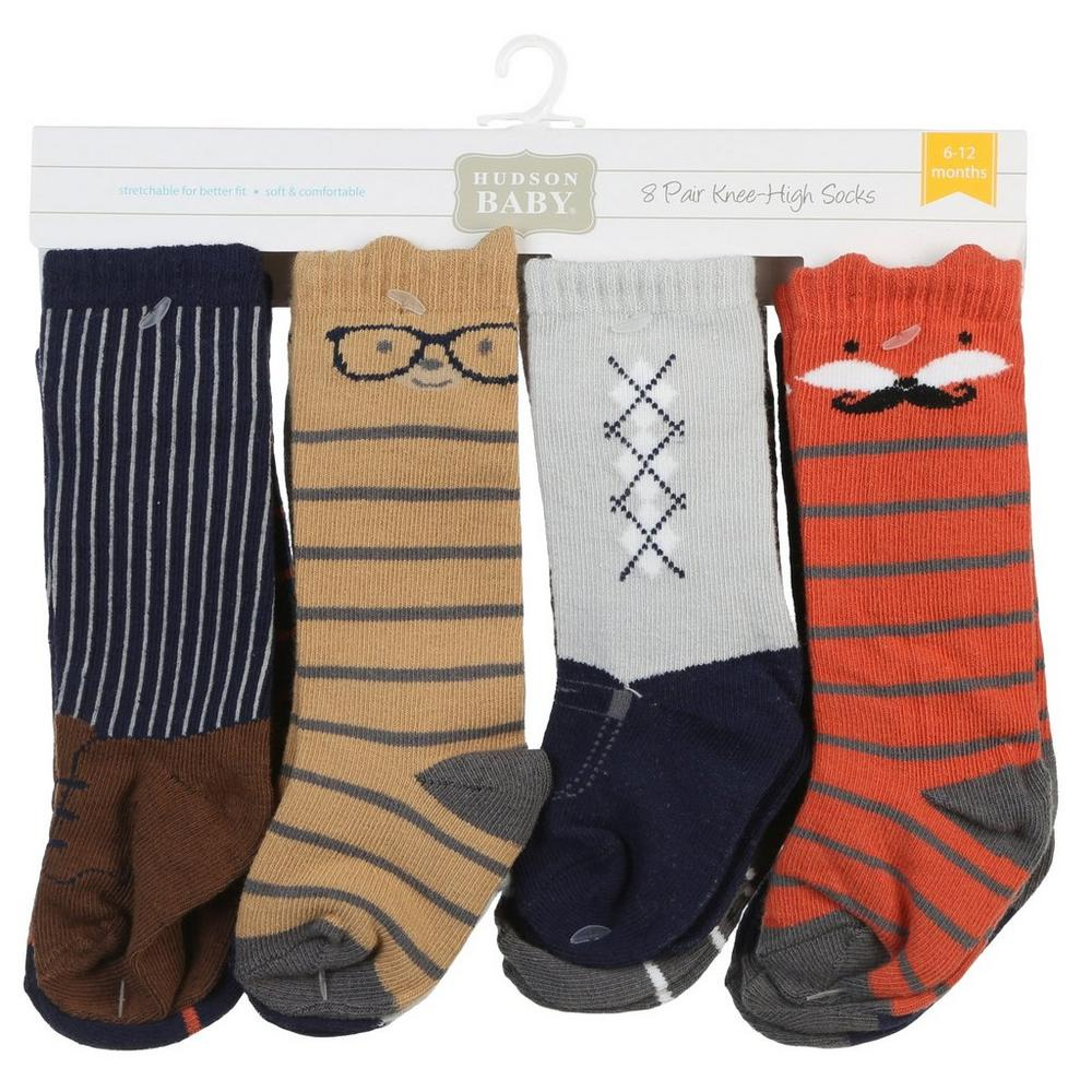 399b04b57 Boys 8 Pk Knee High Socks - Multi (6-12 Mos)