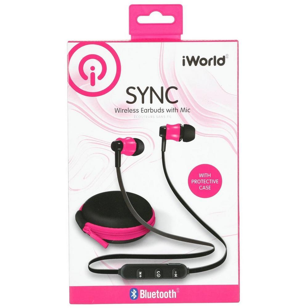 Sync Wireless Earbuds W/ Mic - Pink