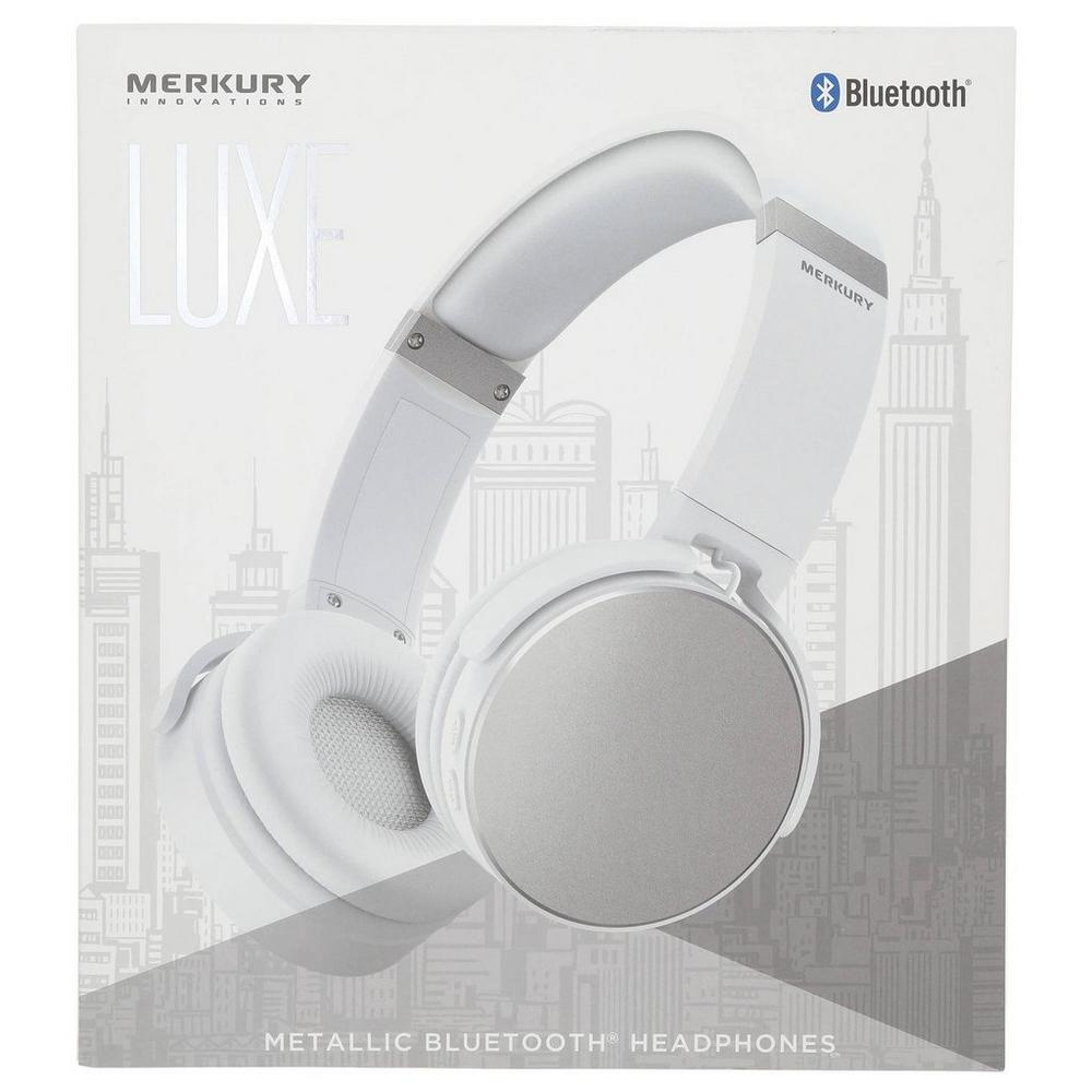 841a492f6c5 Luxe Metallic Headphones - Silver   Burkes Outlet