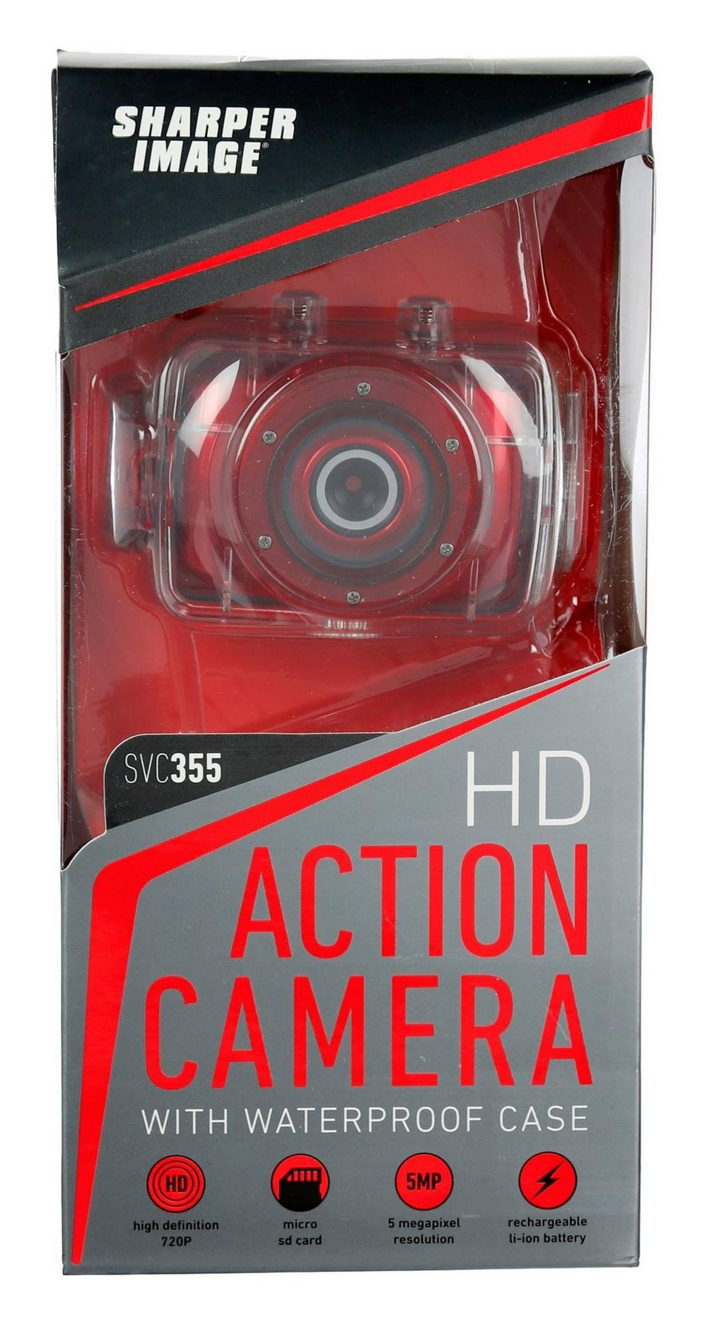 Hd Action Camera W Waterproof Case Red Burkes Outlet
