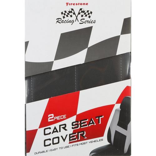 Strange Racing Series 2 Pc Car Seat Cover Set Black Pabps2019 Chair Design Images Pabps2019Com