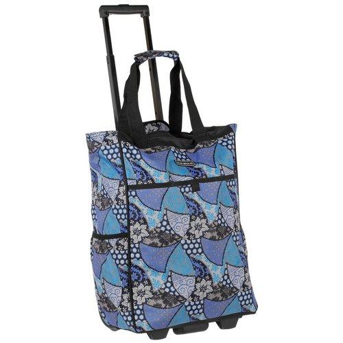 Blossom Abstract Print Roller Shopper - Blue 5723ff4ac6e69