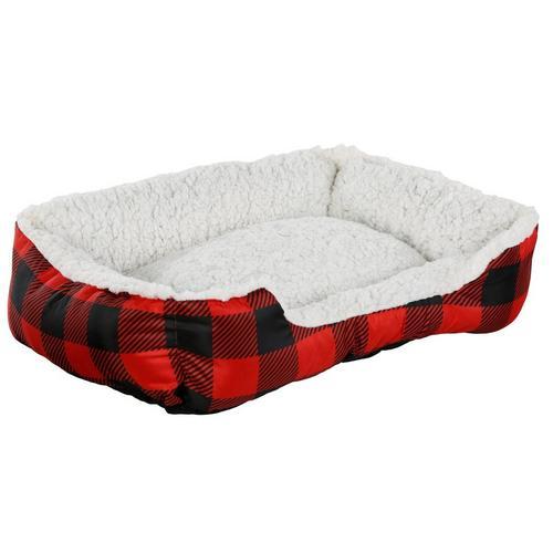 Plaid Pet Cuddler Bed Red Burkes Outlet