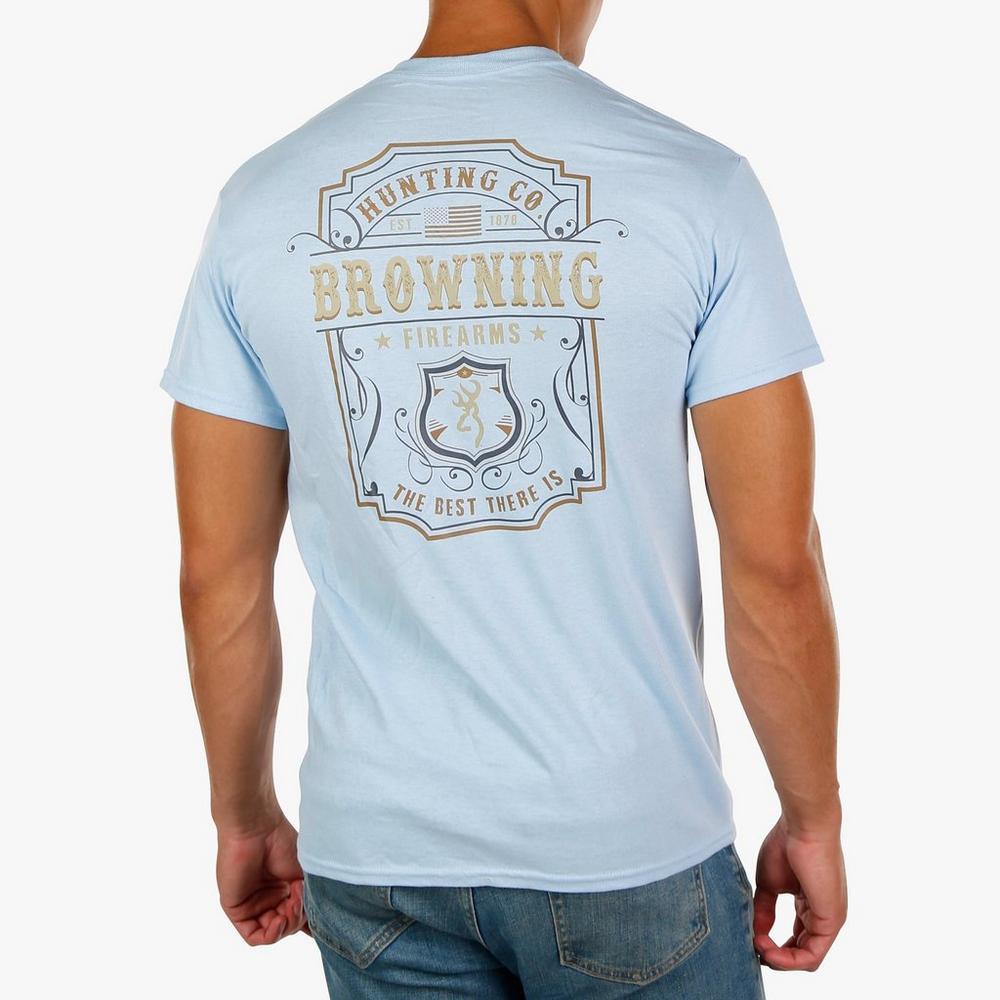 d0ca95a04 Men's Western Label Graphic T-Shirt - Light Blue   Burkes Outlet