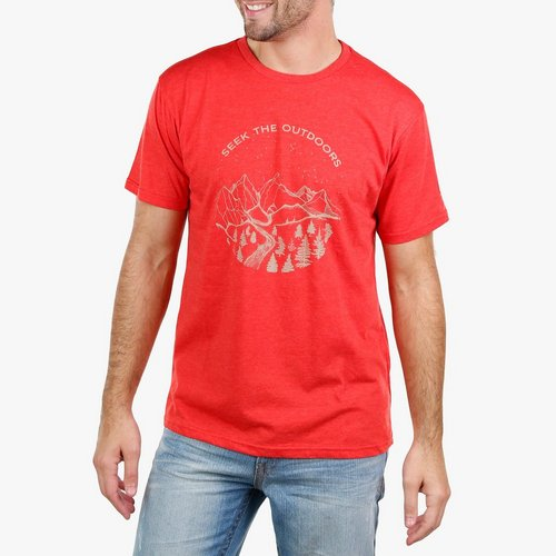 22508656d Men's Seek The Outdoors Graphic T-Shirt - Red