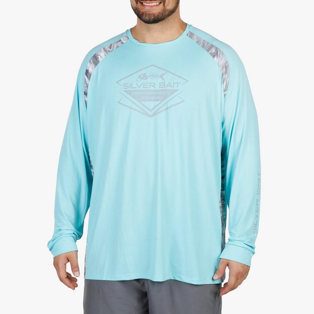 428bfd3a5b67 Men's Big & Tall Water Reflection Performance Fishing Shirt - Aqua | Burkes  Outlet