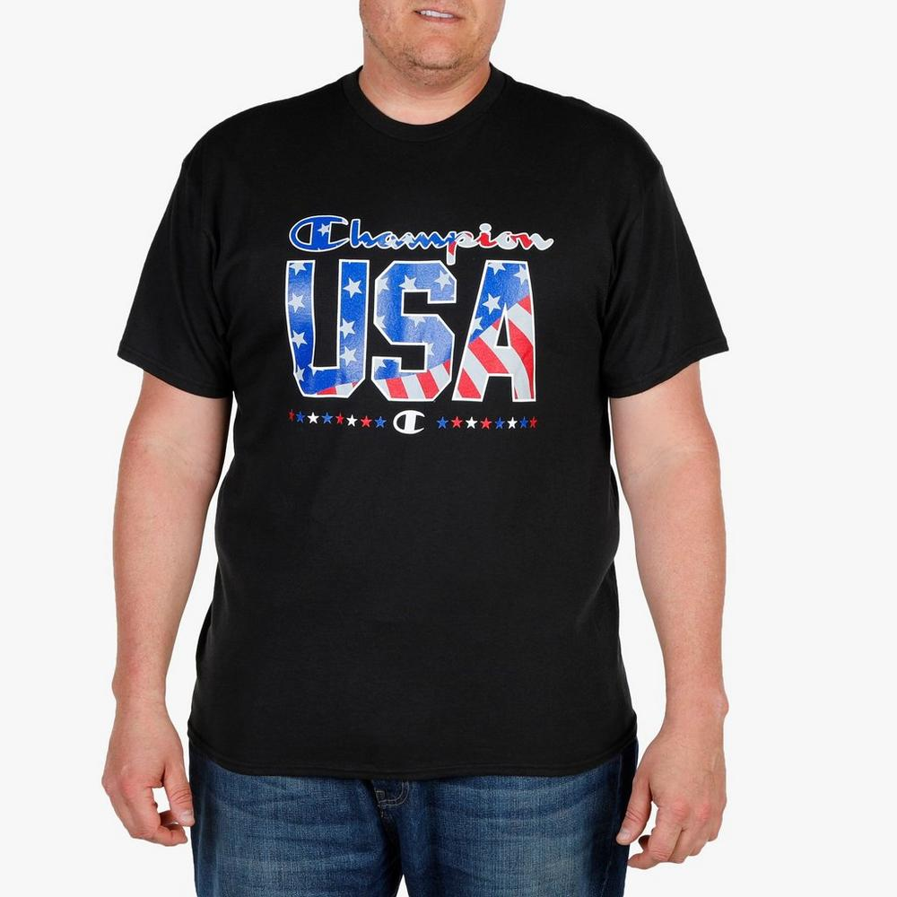 686e608f333 Men s Big   Tall USA Graphic Tee - Black