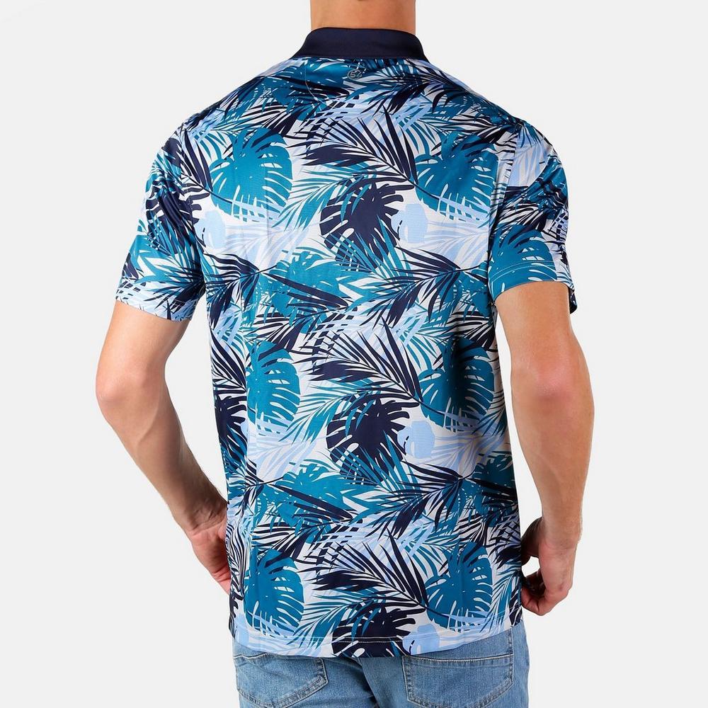 32741213739845 ... Men's Momoa Hawaiian Polo - Blue Multi. Click to zoom