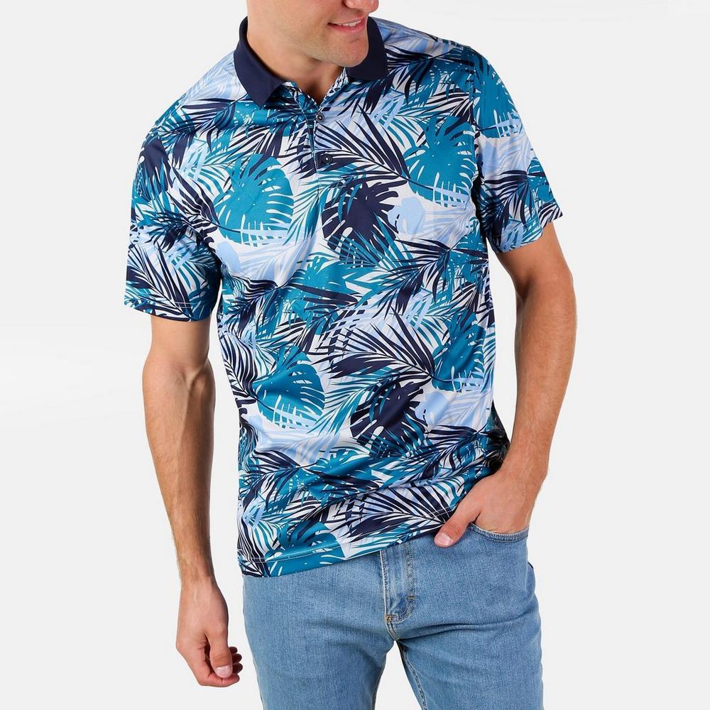 a9e45bb68ddf8c Men's Momoa Hawaiian Polo - Blue Multi | Burkes Outlet