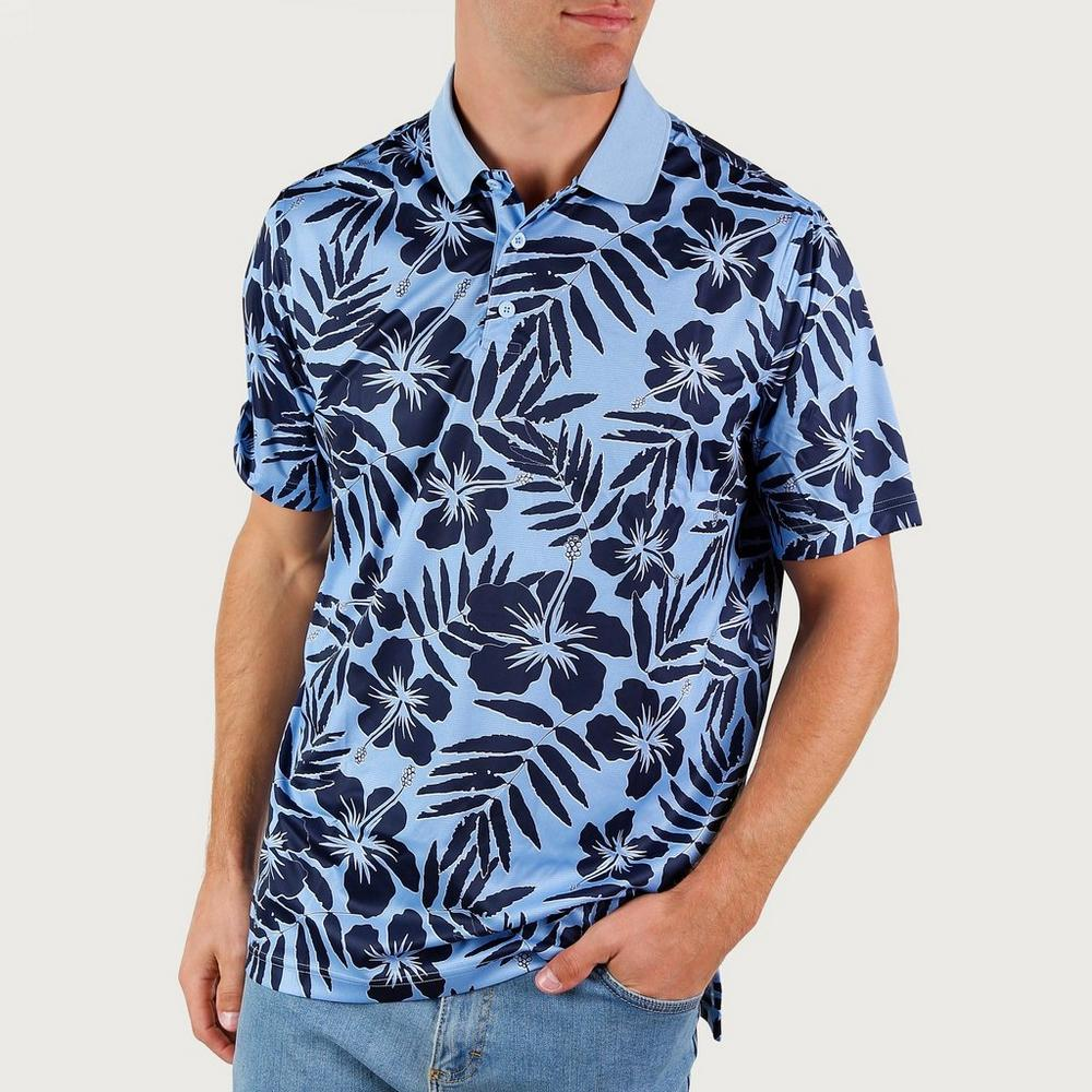 Men s Te o Hawaiian Polo - Blue Multi  edb12b8c6