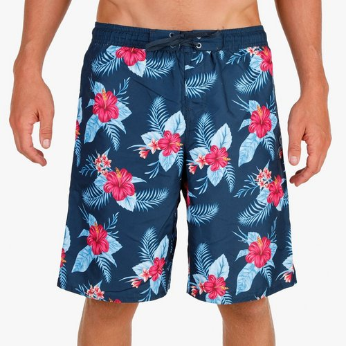 4034518ca1 Men's Tropical Hibiscus Swim Trunks - Blue