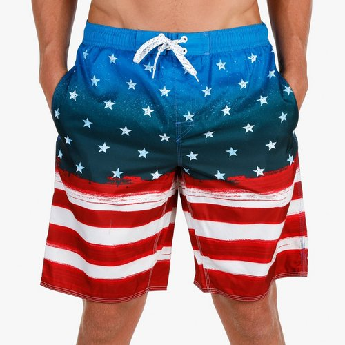 6f06f0998b59f Men's Stars & Stripes Board Shorts - Multi
