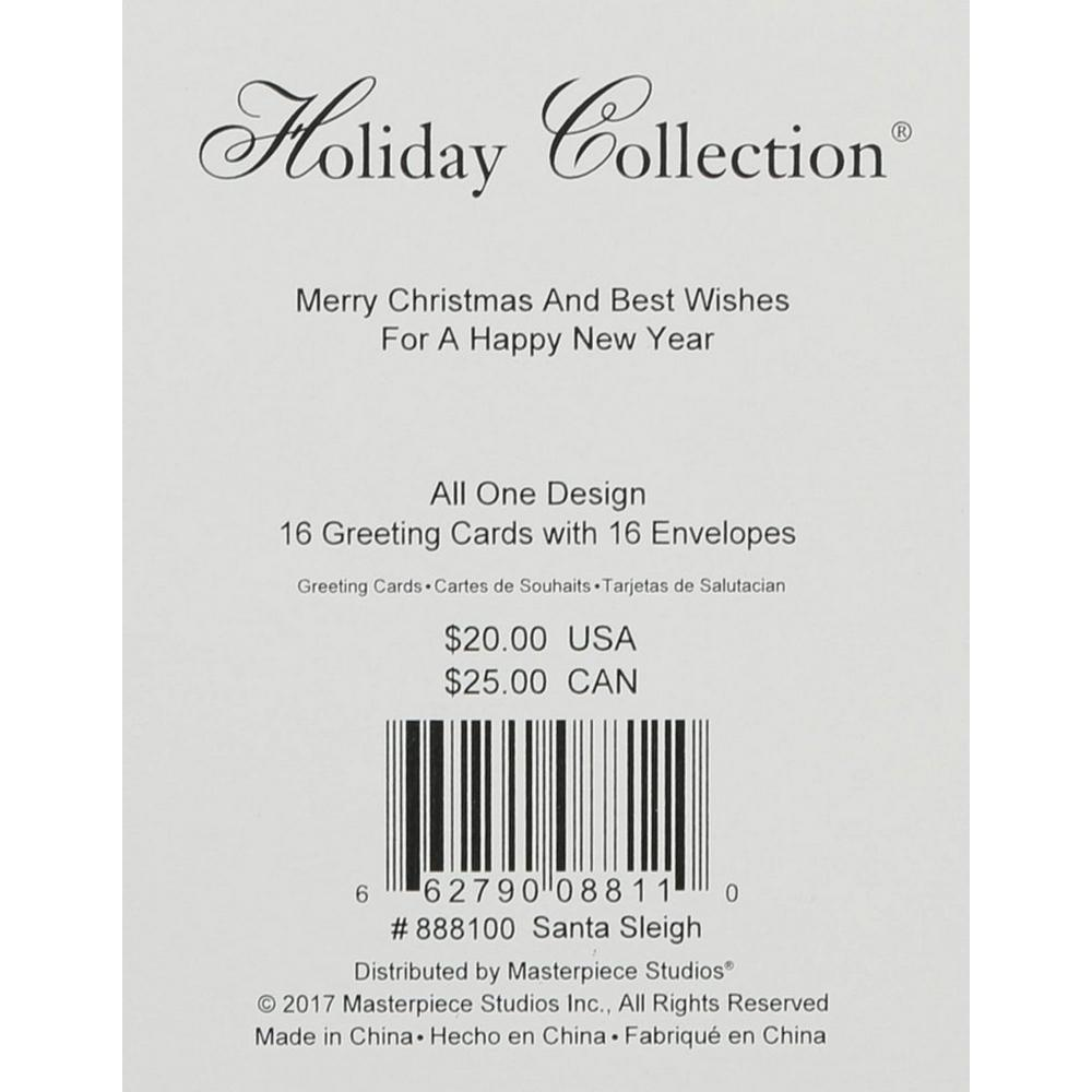 Merry Christmas 16 Ct Greeting Card Set | Burkes Outlet