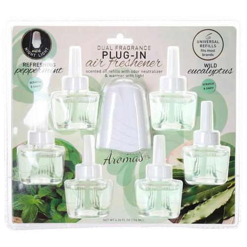 Wild Eucalyptus & Peppermint 7 Pc Plug-In Air Freshener Set