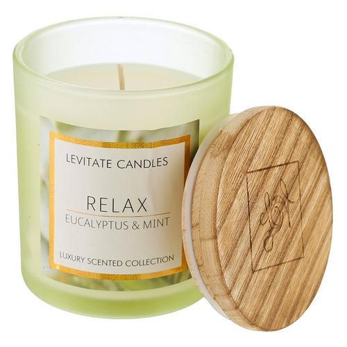 10 Oz Relax Eucalyptus Mint Scented Candle Burkes Outlet