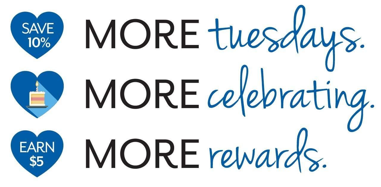 MORE mondays. MORE celebrating. MORE rewards